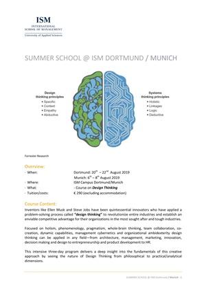 Summer School on Design Thinking Dortmund/Munich - Summer Schools
